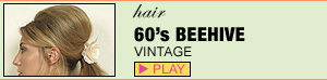 1960's Beehive with Ponytail